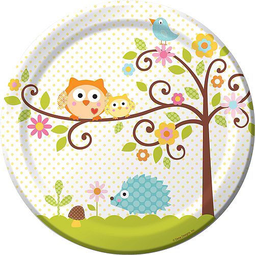 Owl Baby Shower Lunch Plates 8ct Image #1