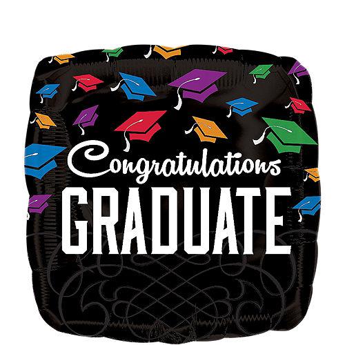 Graduation Balloon - Square Congratulations, 17in Image #1