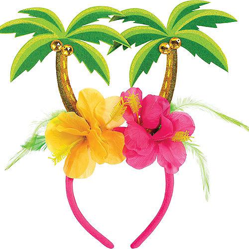 Hibiscus & Palm Tree Head Bopper Image #1