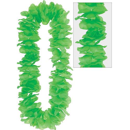 Neon Green Paradise Flower Lei Image #1
