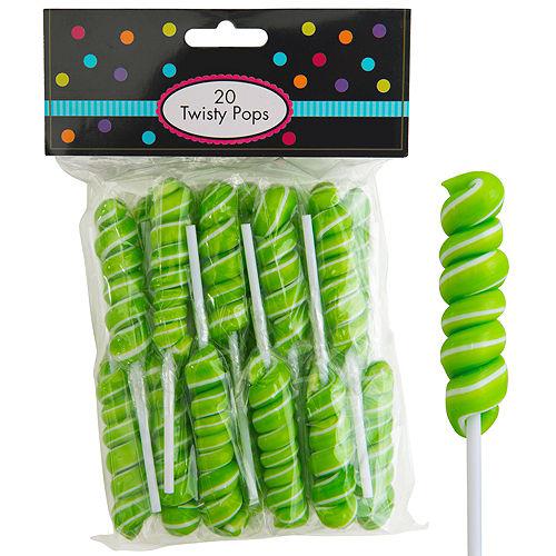 Kiwi Green Twisty Lollipops 20pc Image #1