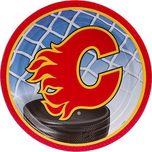Calgary Flames Lunch Plates 8ct Image #1