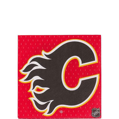 Calgary Flames Beverage Napkins 16ct Image #1