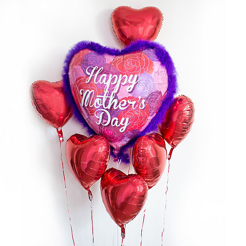 Foil Boa Mother's Day Balloon 32in, 32in Image #2