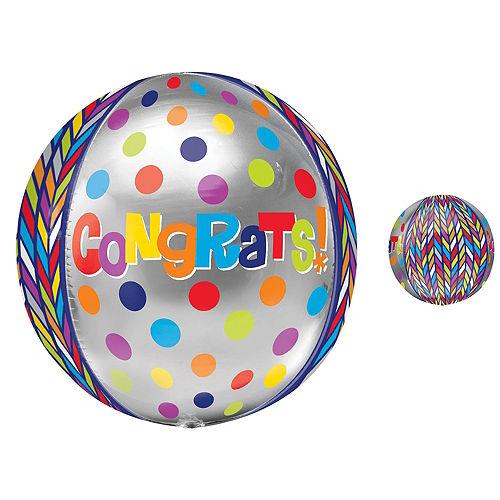 Orbz Dotty Geometric Congrats Balloon, 16in Image #1