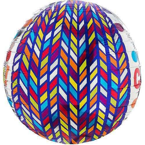 Orbz Dotty Geometric Congrats Balloon, 16in Image #3