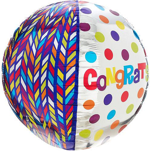 Orbz Dotty Geometric Congrats Balloon, 16in Image #4