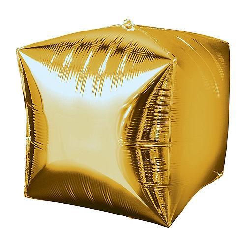 Gold Cubez Balloon, 15in Image #1
