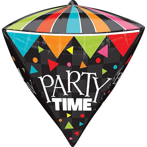 Diamondz Party Time Birthday Balloon 17in Image #2