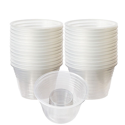 CLEAR Plastic Two-Part Shot Glasses 25ct Image #1