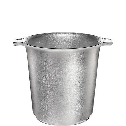 Silver Plastic Ice Bucket Image #1