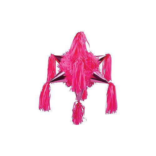 Bright Pink 8-Point Star Pinata Image #1