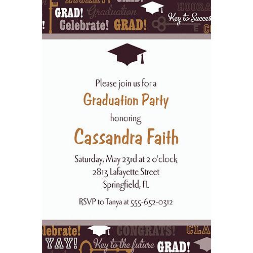 Custom Key To Success Graduation Invitations  Image #1