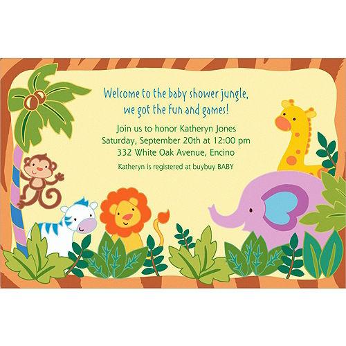 Custom Jungle Baby Shower Invitations Image #1