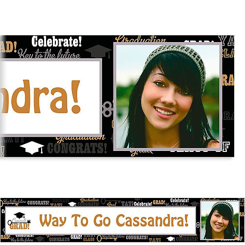 Custom Key To Success Graduation Photo Banner 6ft  Image #1
