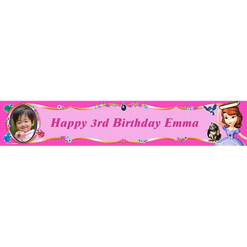 Custom Sofia the First Photo Banner 6ft Image #1