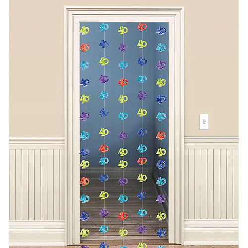 The Party Continues 40th Birthday Doorway Curtain Image #1