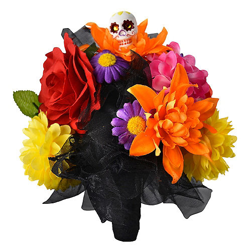 Day of the Dead Skull Flower Bouquet Image #1