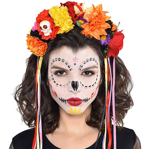 Day of the Dead Floral Headband Image #2