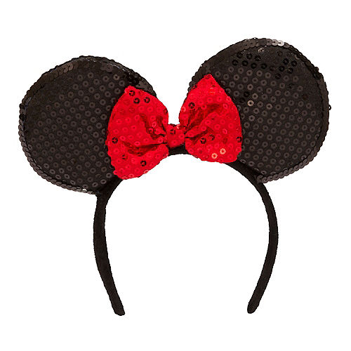 Minnie Mouse Sequin Bow Headband Image #1