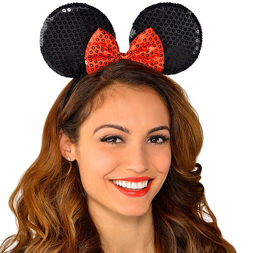 Minnie Mouse Sequin Bow Headband Image #2