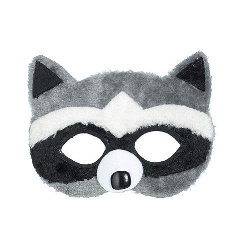 Child Plush Raccoon Mask Image #1