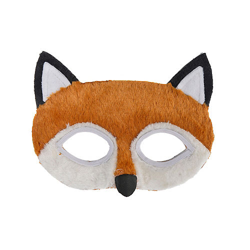 Child Plush Fox Mask Image #1