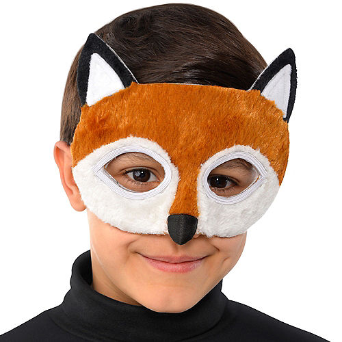 Child Plush Fox Mask Image #2