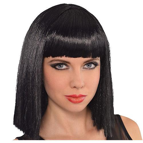 Cleopatra Long Blunt Bob Wig with Bangs Image #1