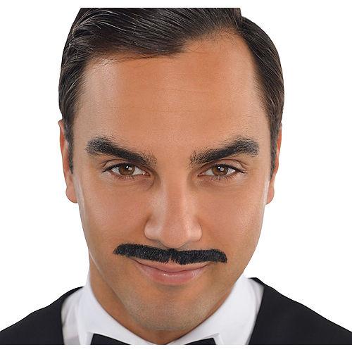 Roaring '20s Black Pencil Moustache Image #1