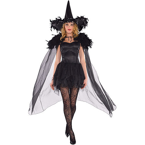 Adult Feather Witch Cape Image #1