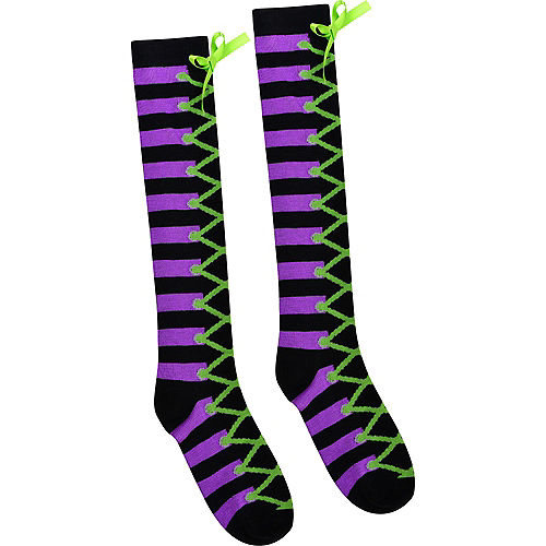 Lace-Up Witch Knee-High Socks Image #2