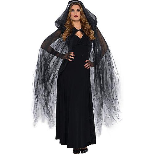 Dark Temptress Black Hooded Cape Image #1