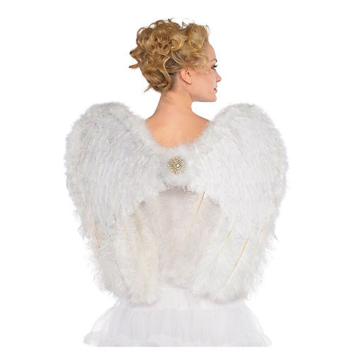 Deluxe Feather Angel Wings Image #1