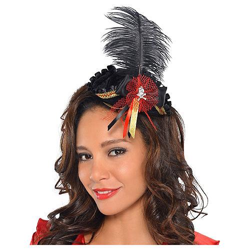 Feathered Pirate Tricorner Headpiece Image #1