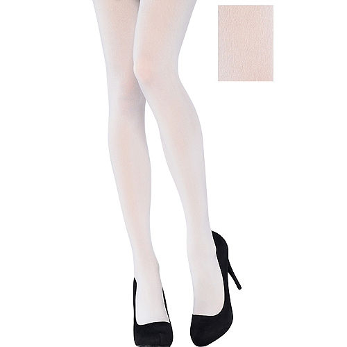 Adult White Tights Image #1