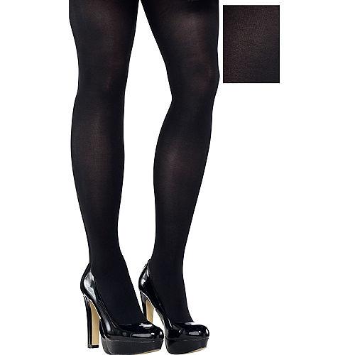 Adult Black Tights Plus Size Image #1