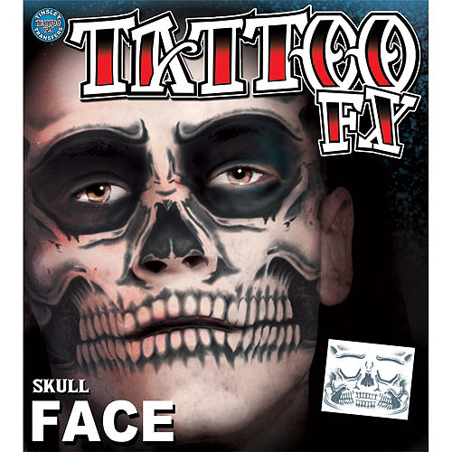 Skull Face Tattoo Kit - Day of the Dead- Tinsley Transfers Image #3