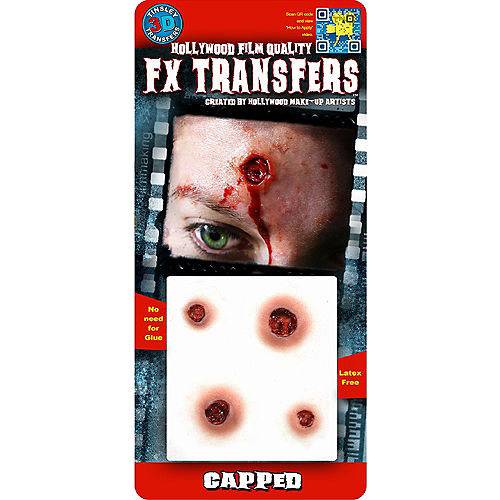 Capped Bullet Wound Prosthetics- Tinsley Transfers Image #2