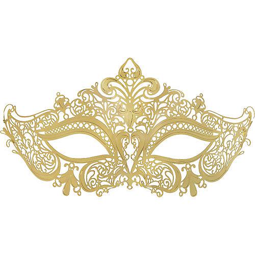 Gold Filigree Masquerade Mask Image #1