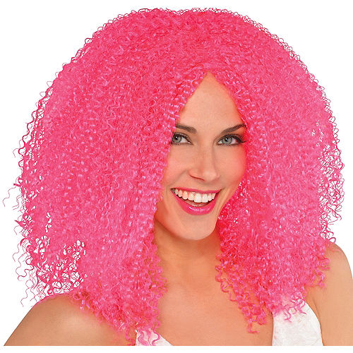 Fly Girl Hot Pink Wig Image #1