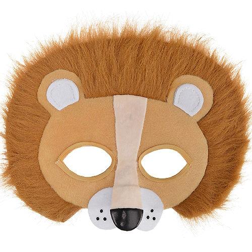 Child Plush Lion Mask Image #1