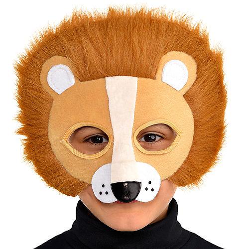 Child Plush Lion Mask Image #2
