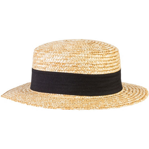 Roaring '20s Straw Skimmer Hat Image #1