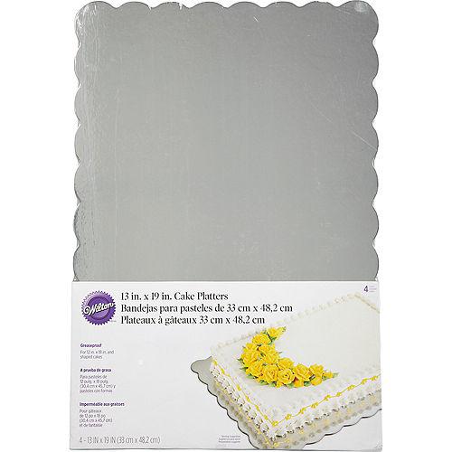Wilton Silver Cake Boards 4ct Image #1