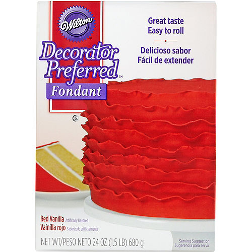 Wilton Red Rolled Fondant Image #1