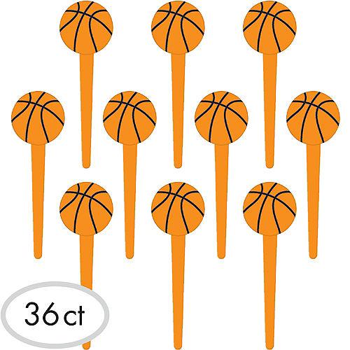 Basketball Party Picks 36ct Image #1