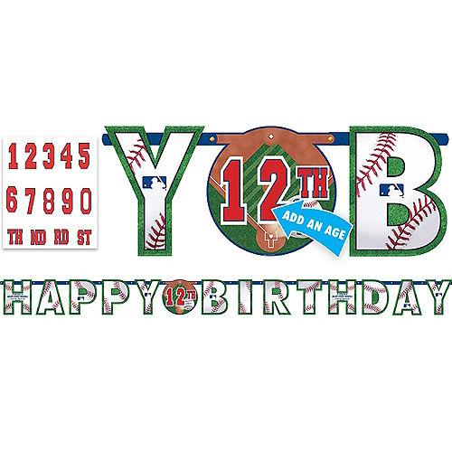 MLB Baseball Birthday Banner Kit Image #1