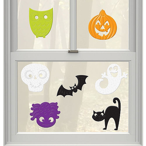 Cute Halloween Gel Cling Decals 7ct Image #1