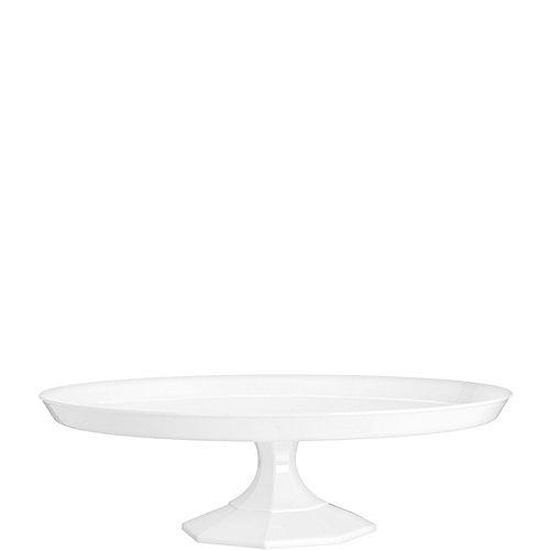 White Plastic Cake Stand Image #1